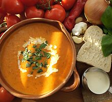 Cream of Tomato and Basil Soup by John Hooton