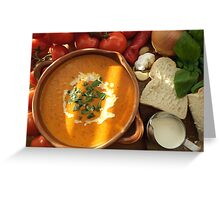 Cream of Tomato and Basil Soup Greeting Card