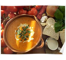 Cream of Tomato and Basil Soup Poster