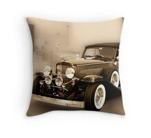 1934 Duesenberg at the Loading Dock Throw Pillow