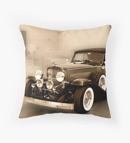 1934 Duesenberg at the Loading Dock Throw Pillow