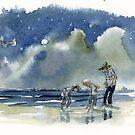 Moonlight Paddling by Roland Harvey