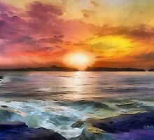 Sunset In Paradise by Alexandra D'Anchala
