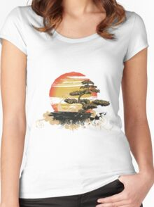Japan art Women's Fitted Scoop T-Shirt
