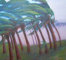Sarasota Suburb Tropical Storm by Mai Kari  Hartvaag Zimbleman