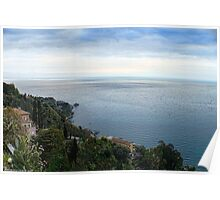Panoramic view from Taormina, Sicily Poster