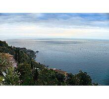 Panoramic view from Taormina, Sicily Photographic Print