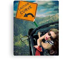 Ironic Death - Seat Belt Distraction Canvas Print