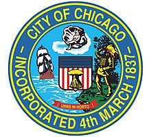 City of Chicago Seal Photographic Print