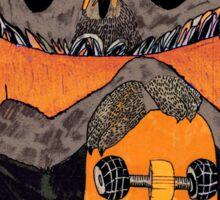 Suzi Owl Skater Sticker