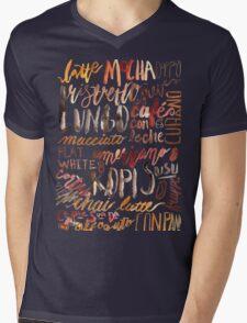 Coffee Jungle Mens V-Neck T-Shirt