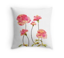 watercolor background, flower Throw Pillow