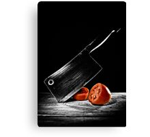 Butcher Knife & the Tomato Canvas Print