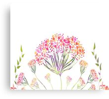 Watercolor painting, flower Canvas Print
