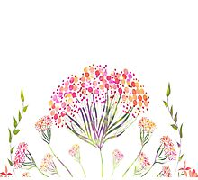 Watercolor painting, flower Photographic Print