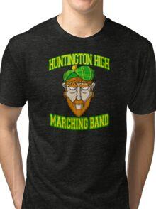 Huntington High Marching Band (Face) Tri-blend T-Shirt
