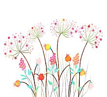 Beautiful Watercolor flower set over white background for design by ngocdai86