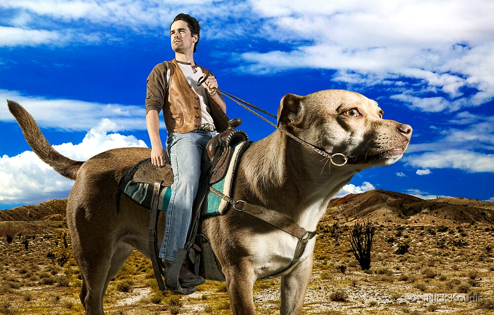 Jesse Bradford Rides a Dog. by Nick Koudis