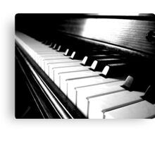 Black and White Piano Keyboard Canvas Print