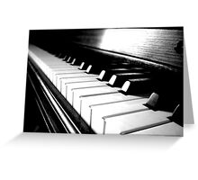 Black and White Piano Keyboard Greeting Card