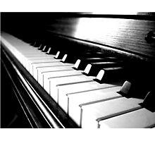 Black and White Piano Keyboard Photographic Print