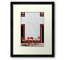 Folding chairs Framed Print