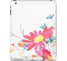 Colorful pink flowers, watercolor iPad Case/Skin