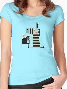 Music Zebra Women's Fitted Scoop T-Shirt