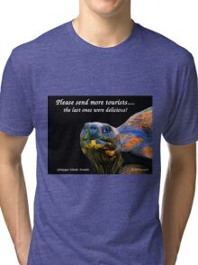 Please Send More Tourists - Tortuga Tri-blend T-Shirt