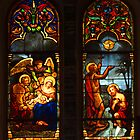 Notre Dame Cathedral, Saigon - leadlight window No 3 by Bev Pascoe
