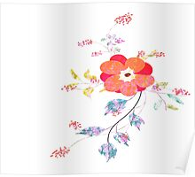 Spring flowers, watercolor Poster