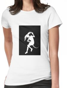 Reptile girl silhouette Womens Fitted T-Shirt