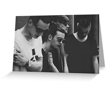 the 1975 (band photo) Greeting Card