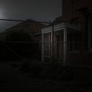 Full Moon Over The Old Hospital by Mike Rowley