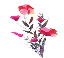 Spring romantic flowers, watercolor by ngocdai86