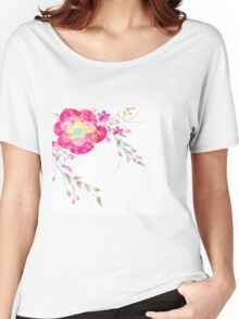 Spring romantic flowers, watercolor Women's Relaxed Fit T-Shirt