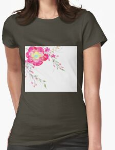 Spring romantic flowers, watercolor Womens Fitted T-Shirt