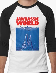 Jawrassic World (variation) Men's Baseball ¾ T-Shirt