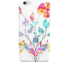 Stylized Poppy flowers watercolor iPhone Case/Skin