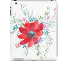 Summer illustration of flowers iPad Case/Skin