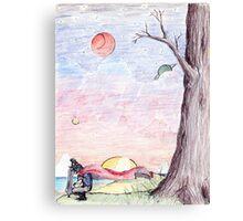 D3vil Sunset Canvas Print