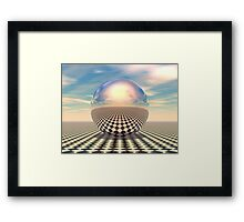 Checker Ball Framed Print