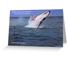 Please Send More Tourists - Humpback Whale Greeting Card