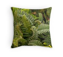 green undergrowth Throw Pillow