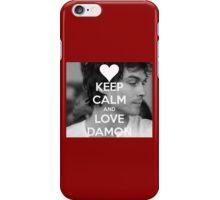 Keep calm and love DAMON iPhone Case/Skin