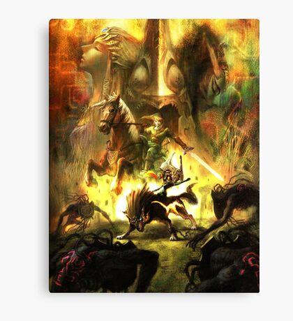 Zelda Twillight Princess Main Art Canvas Print