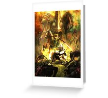 Zelda Twillight Princess Main Art Greeting Card