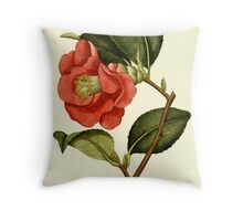 Rose Camellia Flower Botanical Throw Pillow