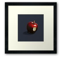 snow white's apple Framed Print