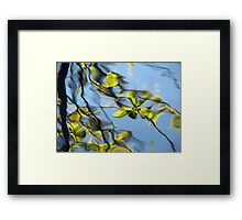 Reflections of the way life used to be Framed Print